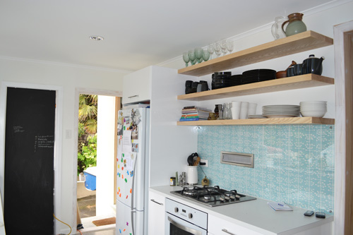 Duck Egg Blue Glass Splashback
